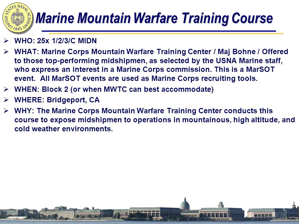 Marine Mountain Warfare Training Course