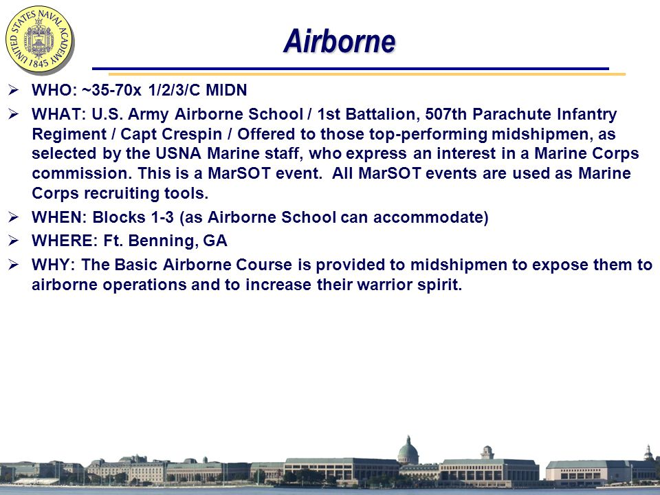 Airborne WHO: ~35-70x 1/2/3/C MIDN