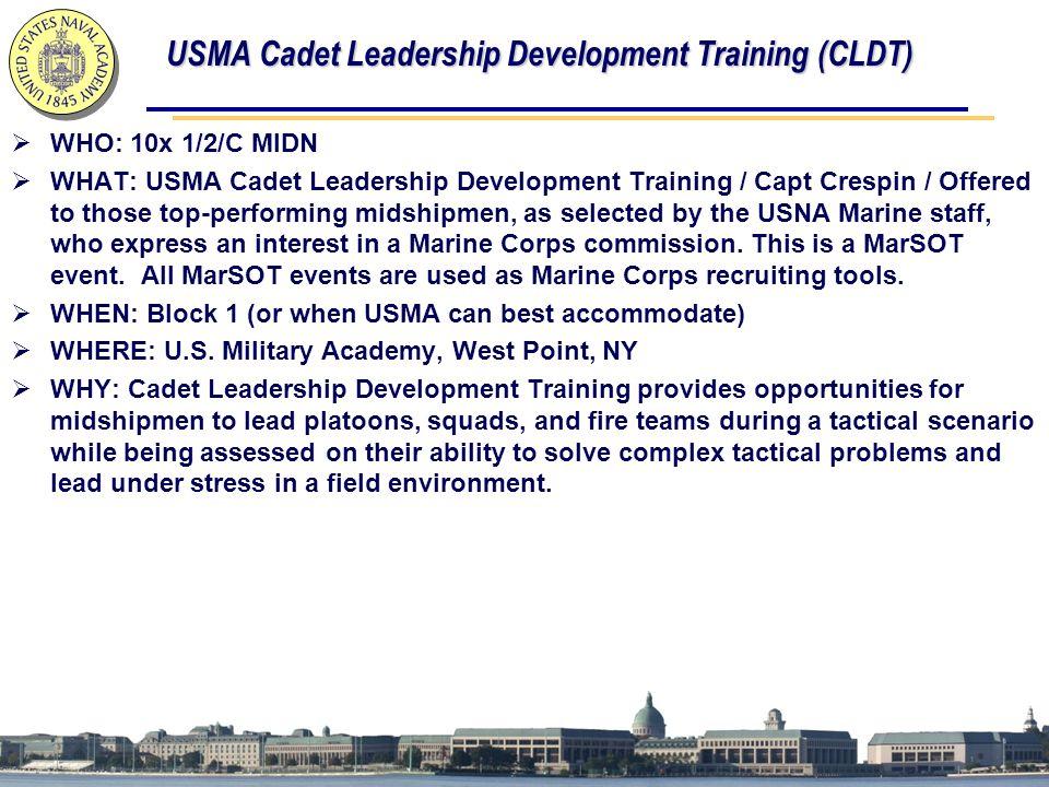 USMA Cadet Leadership Development Training (CLDT)