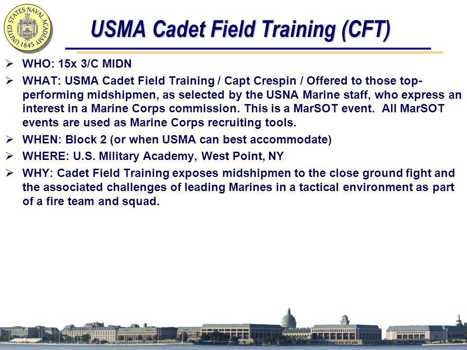 USMA Cadet Field Training (CFT)