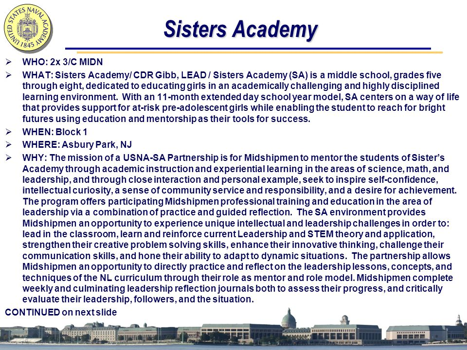 Sisters Academy WHO: 2x 3/C MIDN