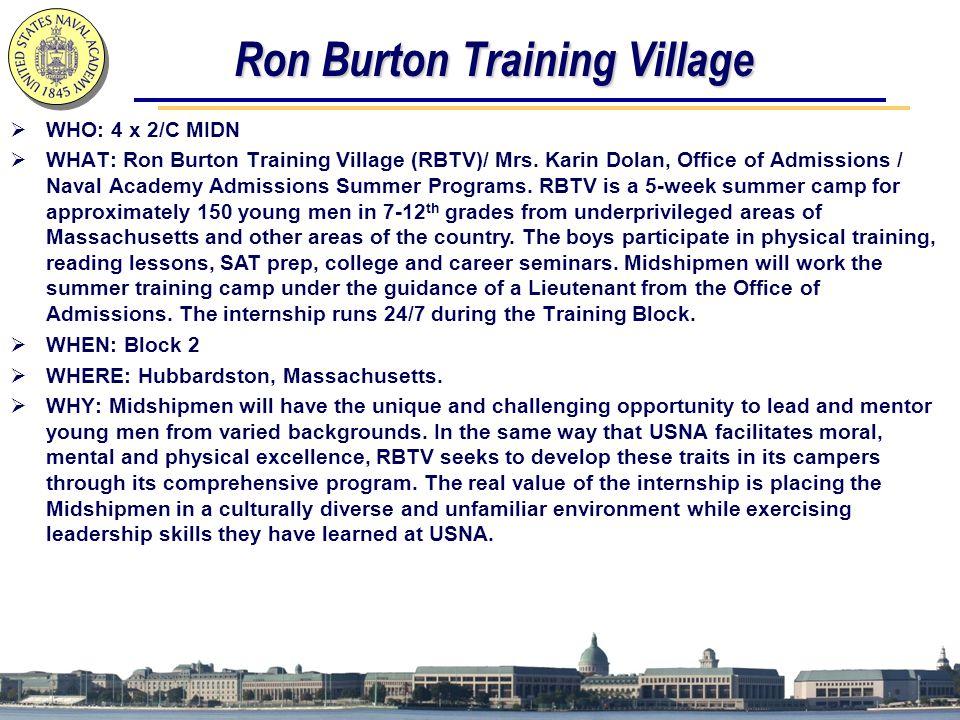 Ron Burton Training Village
