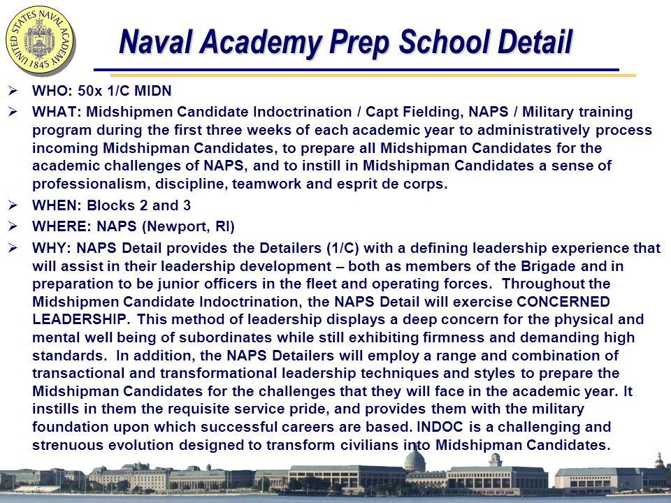 Naval Academy Prep School Detail