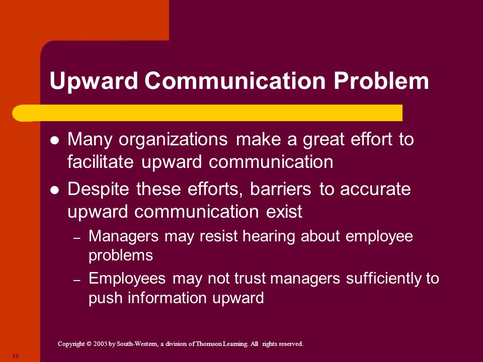 Upward Communication Problem