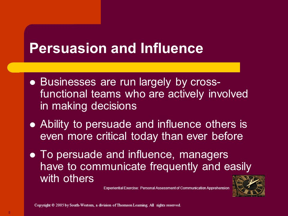 Persuasion and Influence