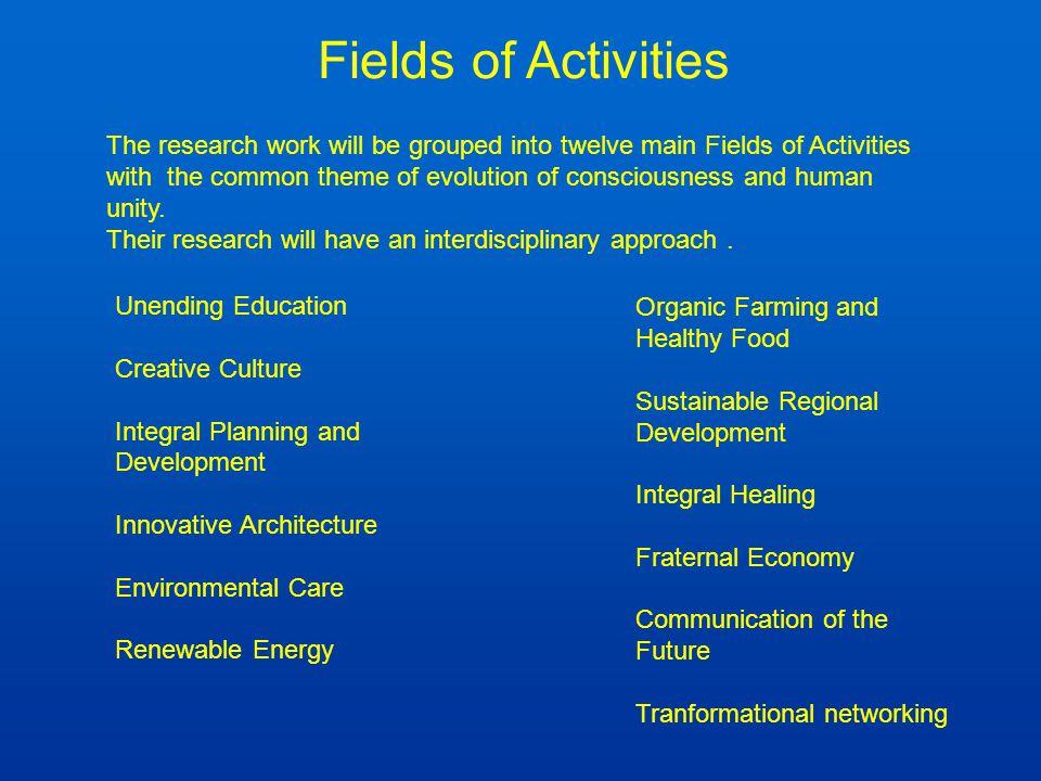 Fields of Activities