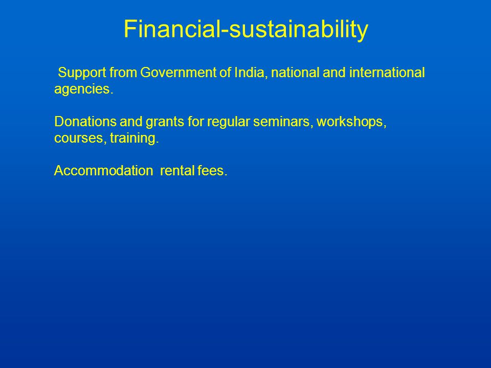 Financial-sustainability