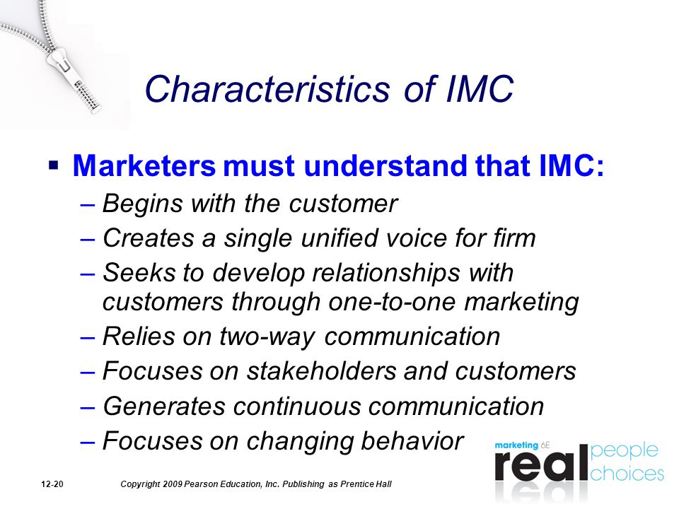 Characteristics of IMC