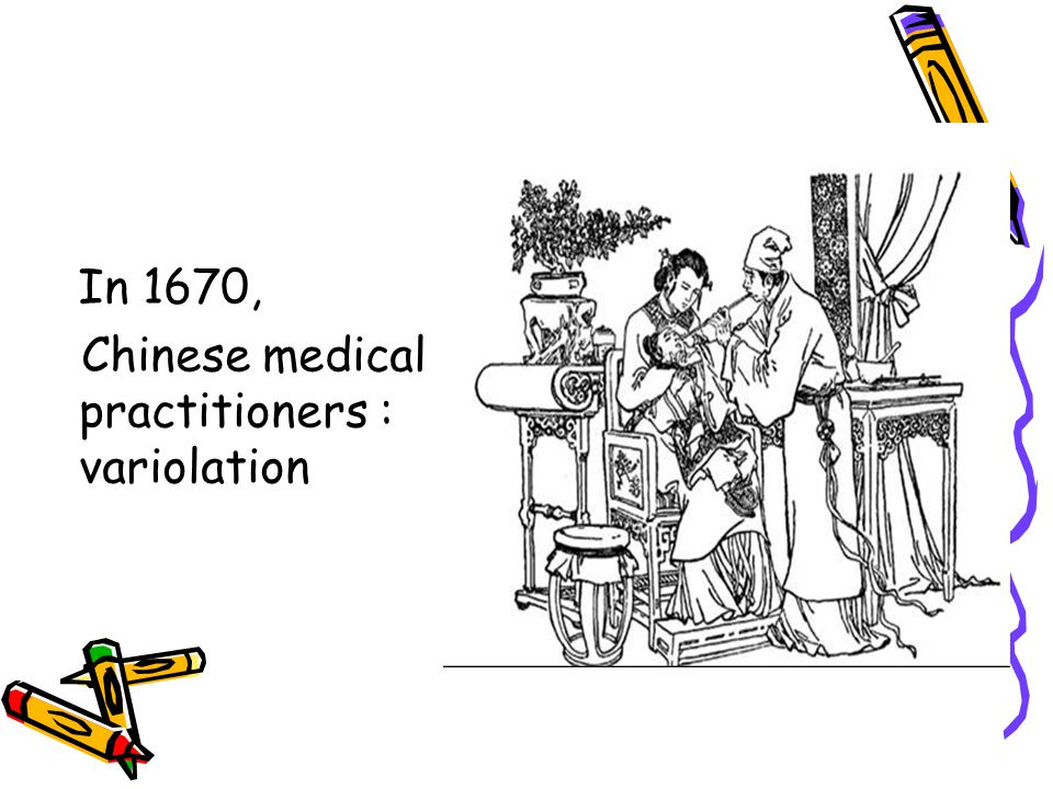Chinese medical practitioners : variolation
