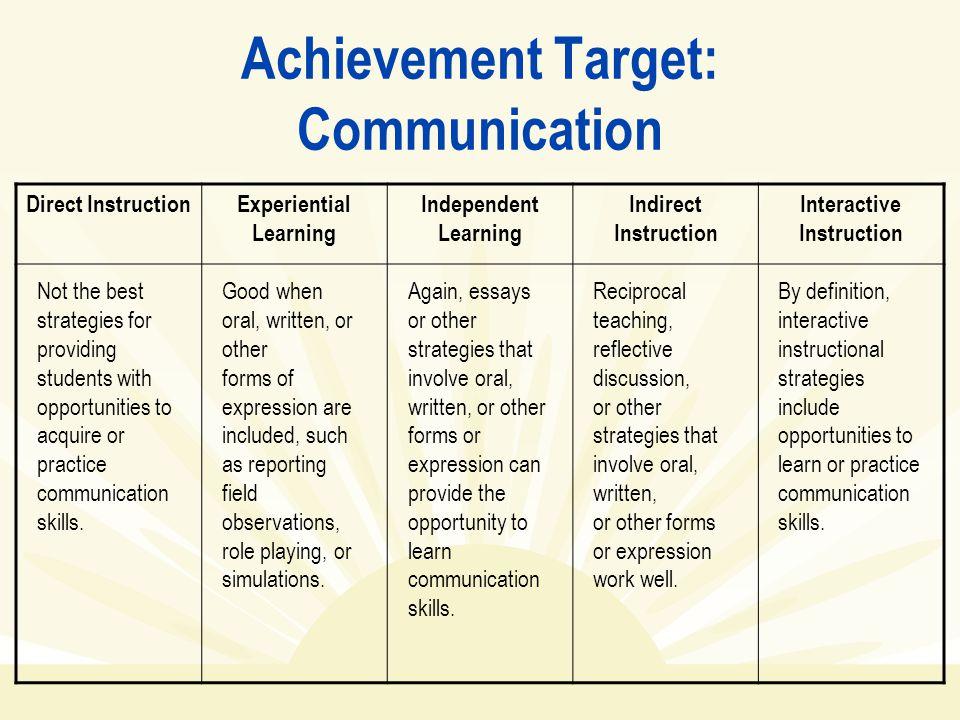 Achievement Target: Communication