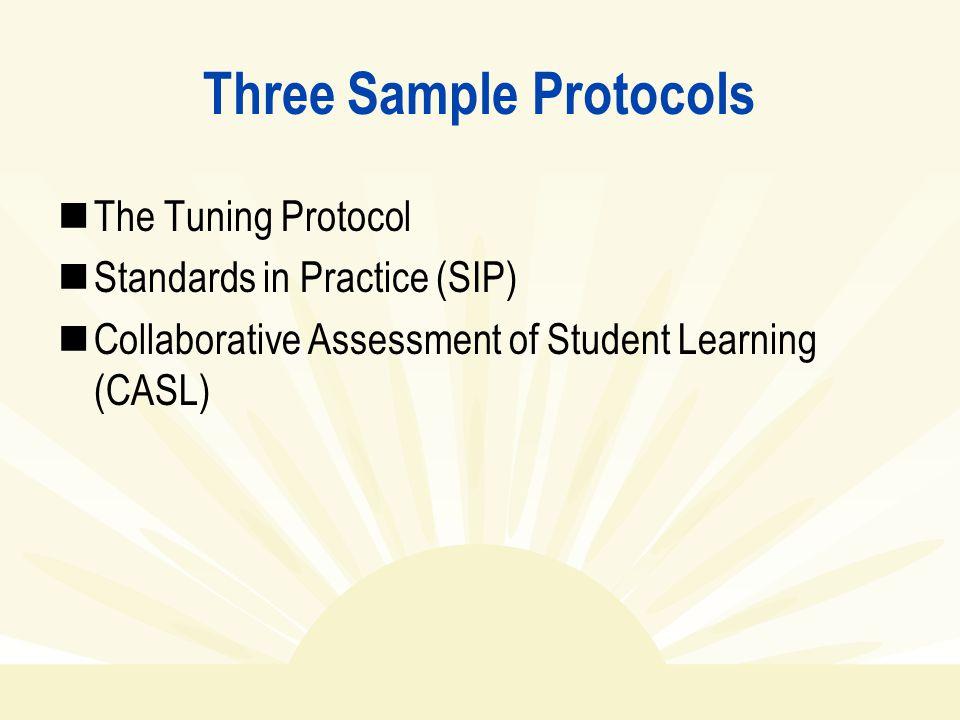 Three Sample Protocols