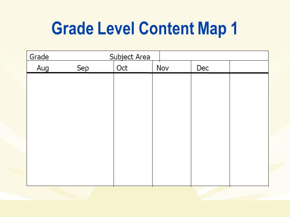 Grade Level Content Map 1