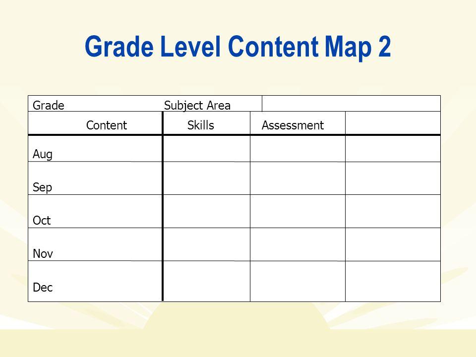 Grade Level Content Map 2