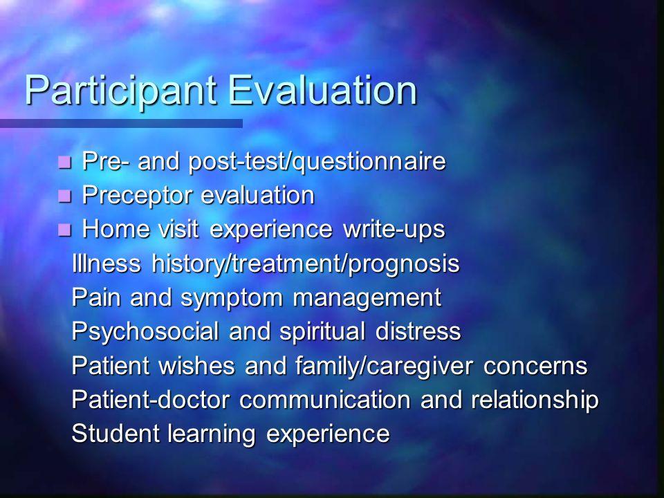 Participant Evaluation