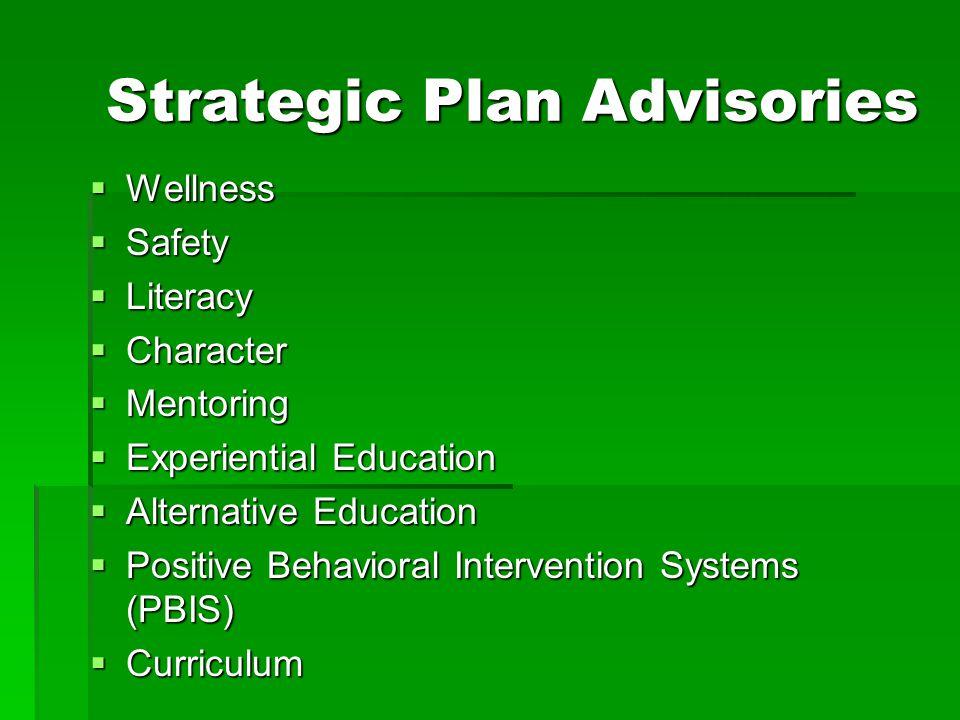 Strategic Plan Advisories