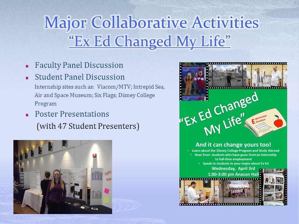 Major Collaborative Activities Ex Ed Changed My Life