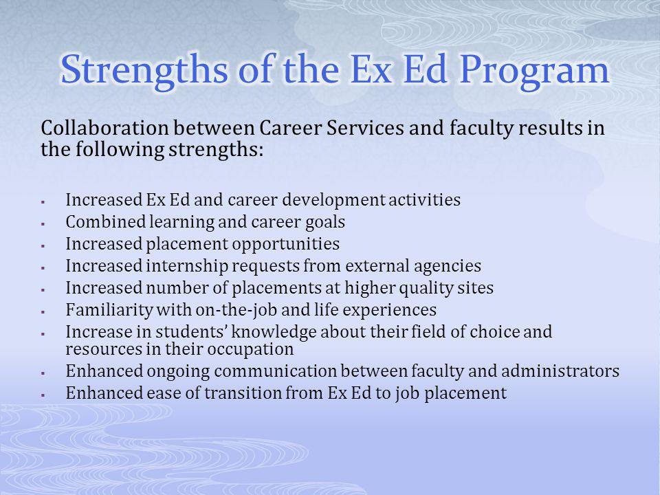 Strengths of the Ex Ed Program
