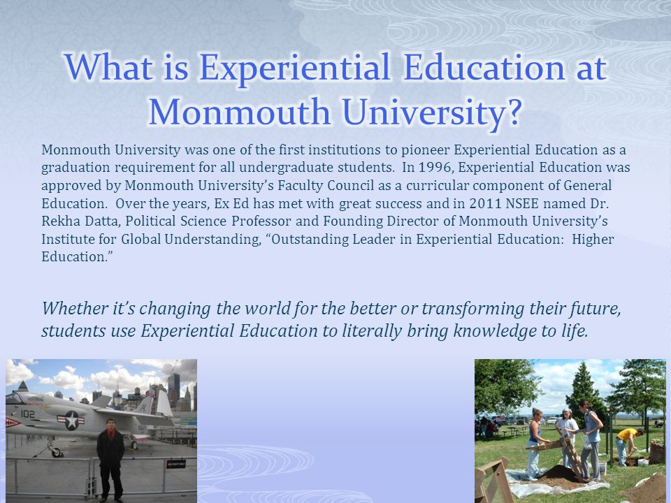 What is Experiential Education at Monmouth University