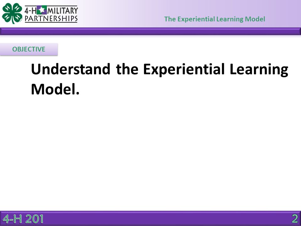 Understand the Experiential Learning Model.