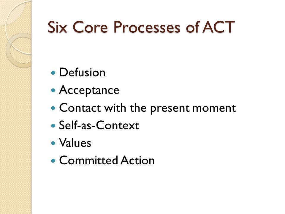 Six Core Processes of ACT