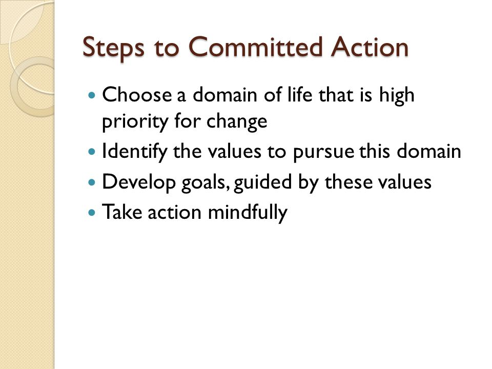 Steps to Committed Action