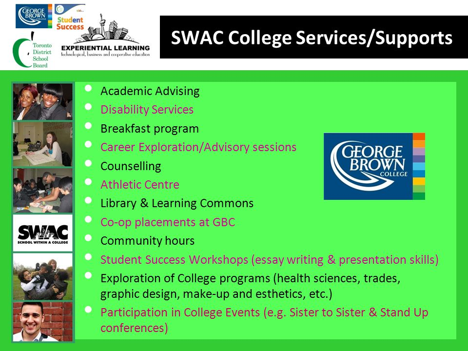 SWAC College Services/Supports