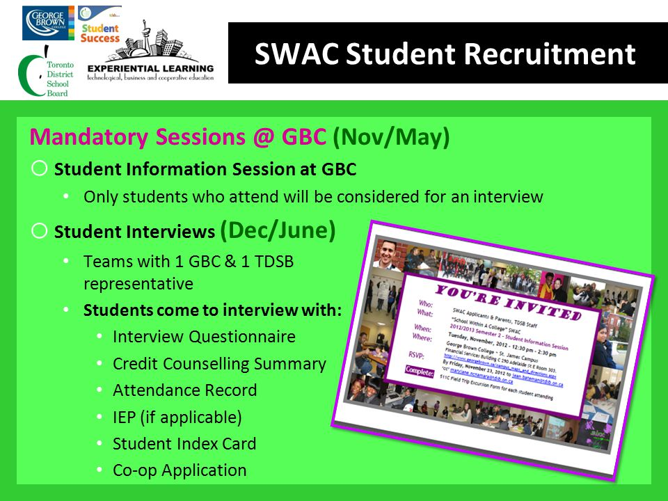 SWAC Student Recruitment