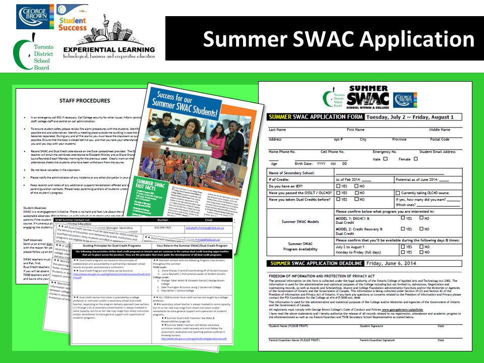 Summer SWAC Application