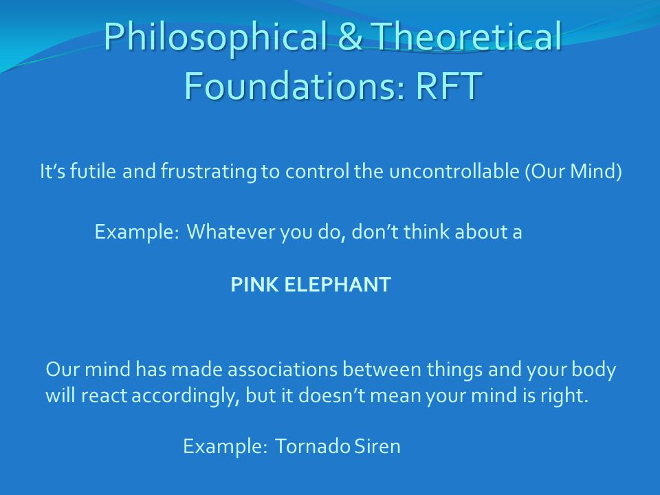 Philosophical & Theoretical Foundations: RFT