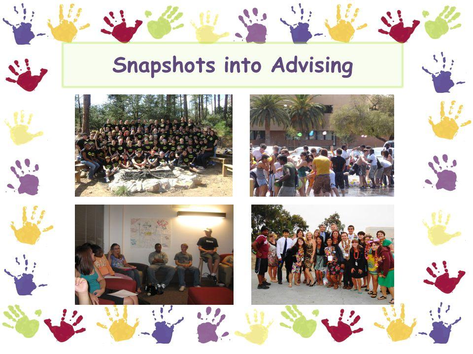 Snapshots into Advising
