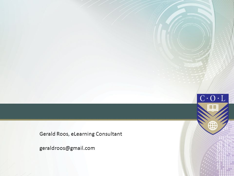 Gerald Roos, eLearning Consultant