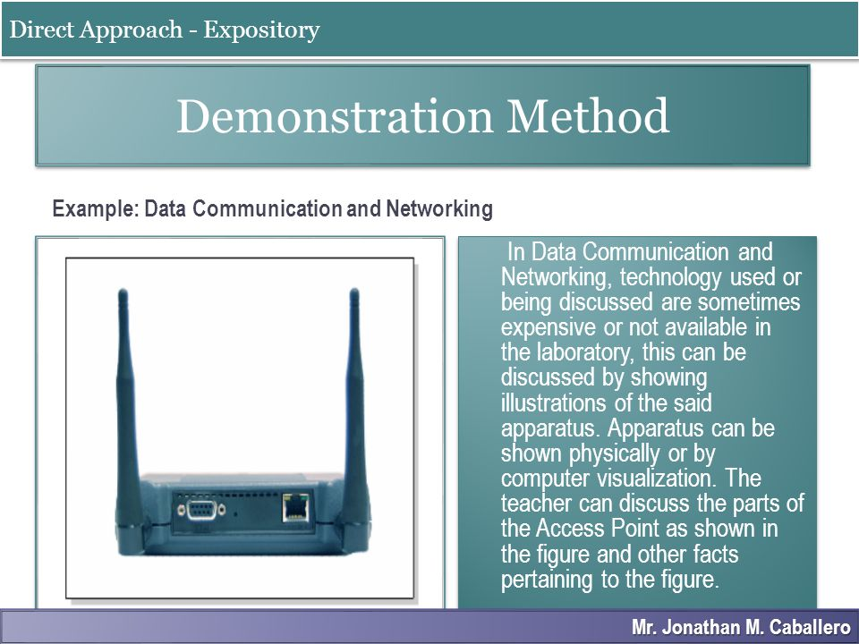 Example: Data Communication and Networking