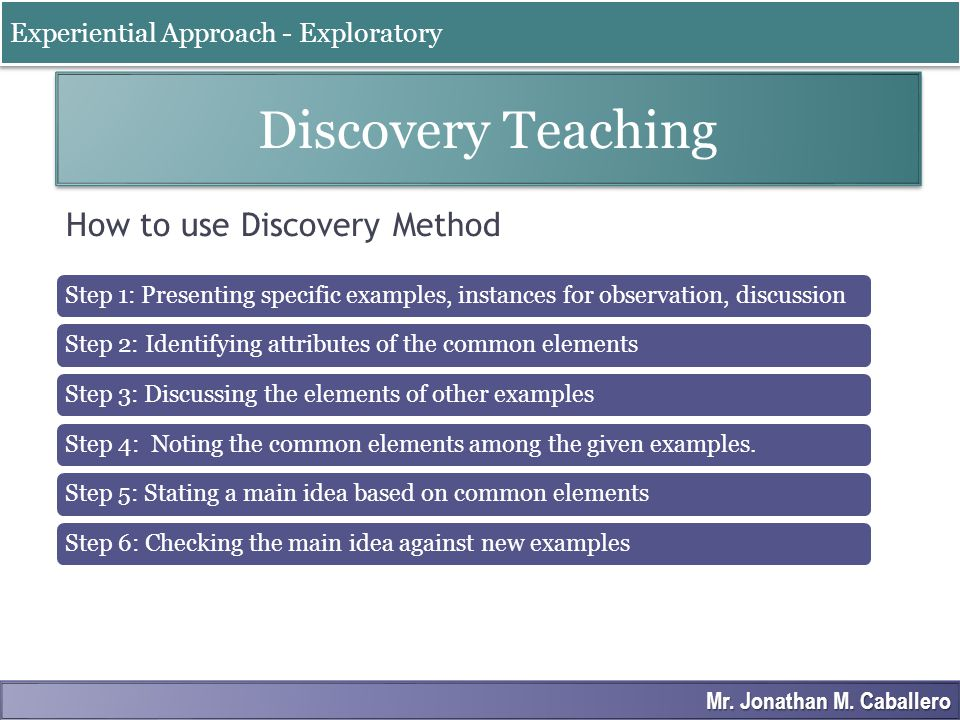 How to use Discovery Method