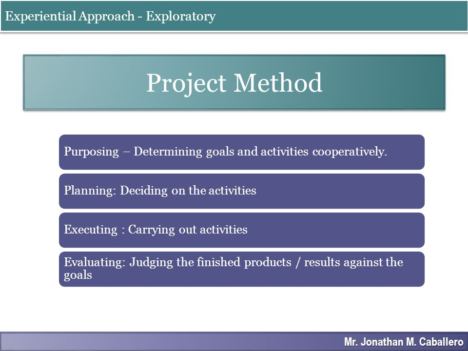 Steps in Project Method