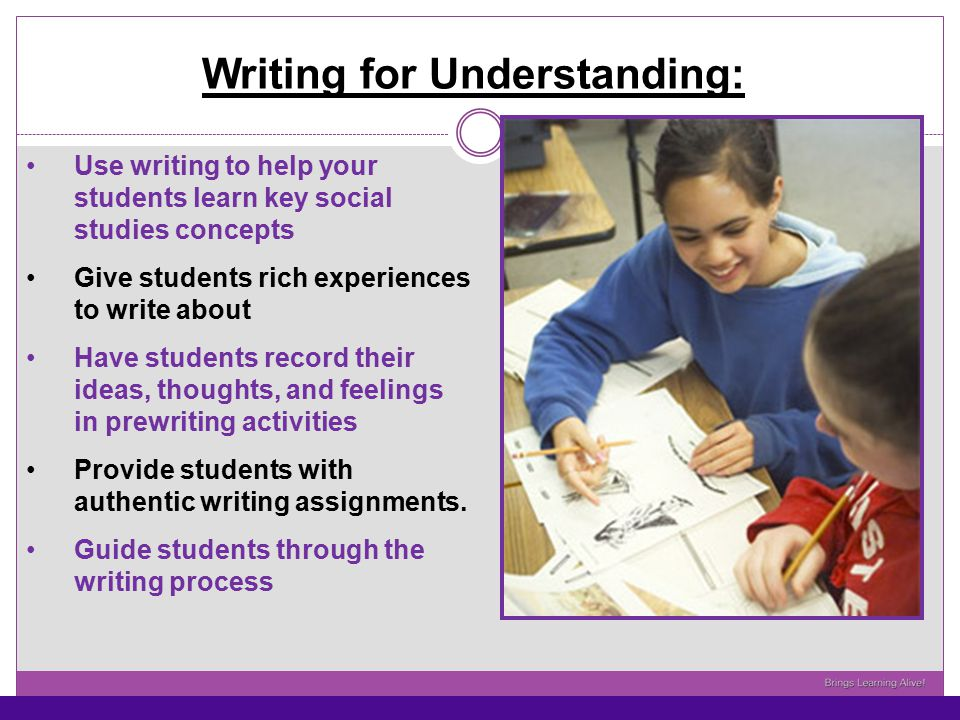 Writing for Understanding: