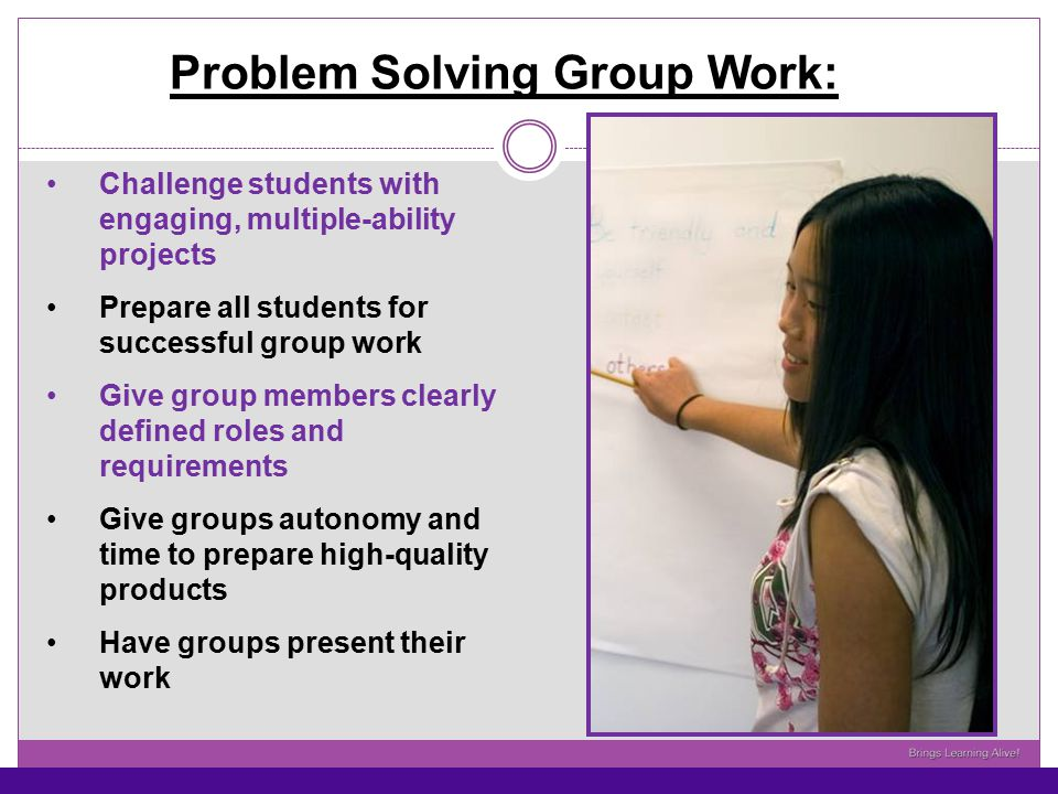 Problem Solving Group Work: