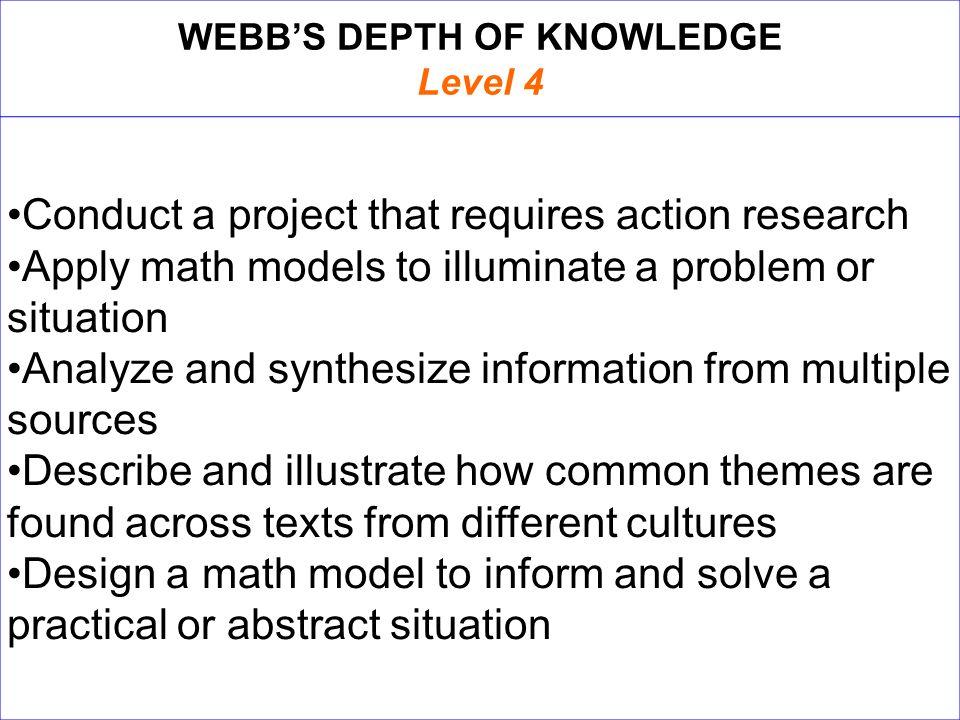 WEBB'S DEPTH OF KNOWLEDGE