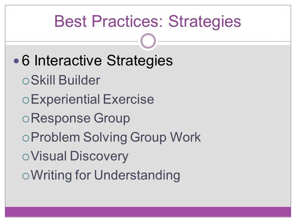 Best Practices: Strategies