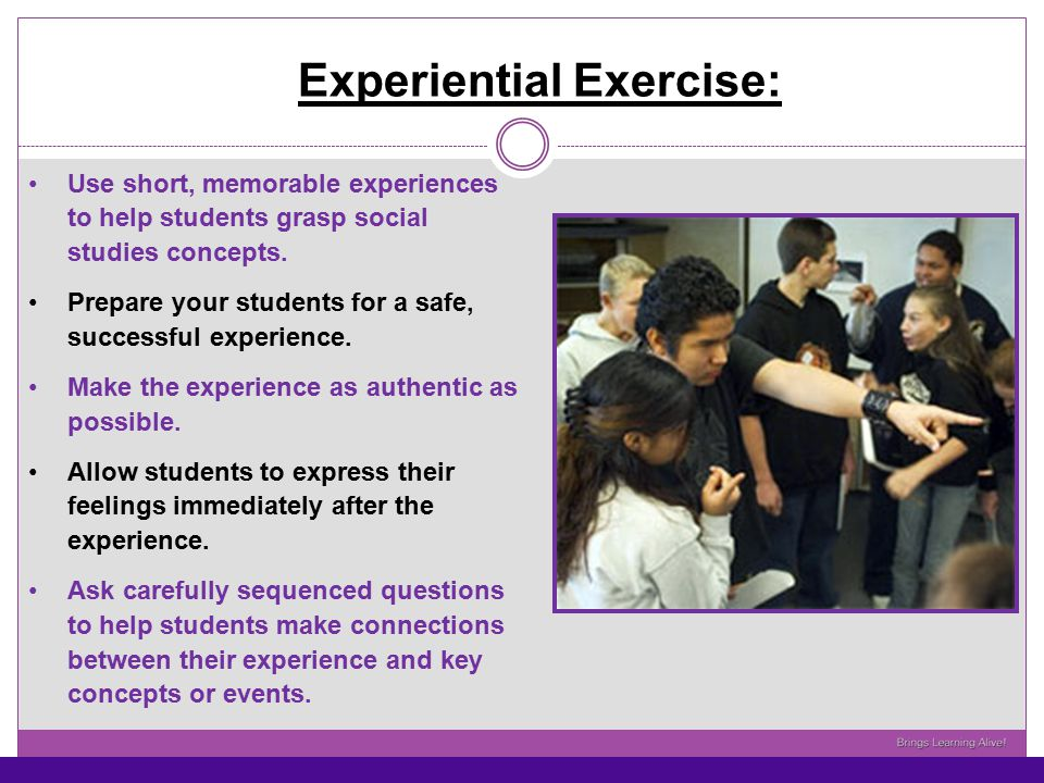 Experiential Exercise: