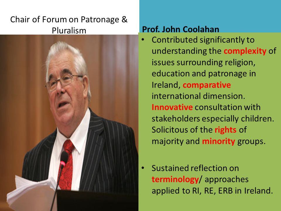 Chair of Forum on Patronage & Pluralism