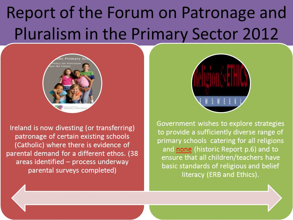 Report of the Forum on Patronage and Pluralism in the Primary Sector 2012
