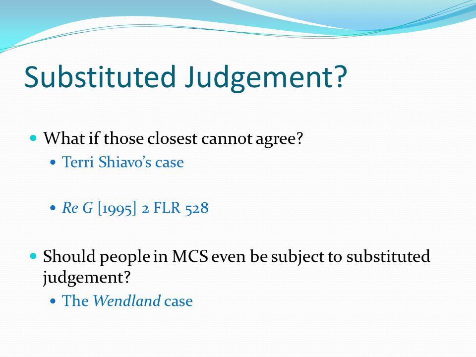 Substituted Judgement