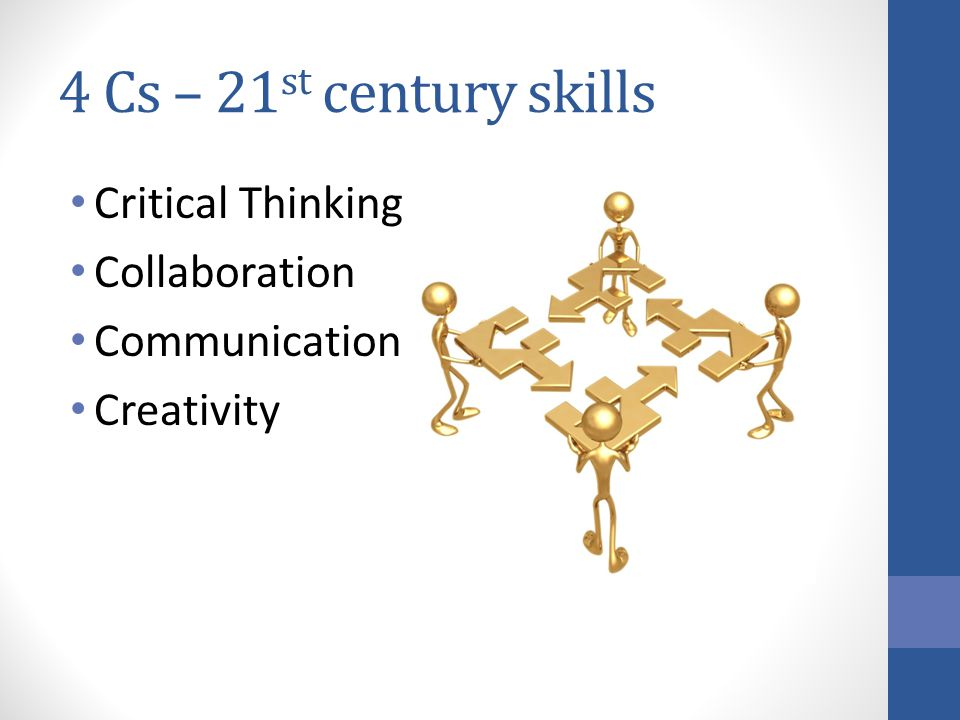 4 Cs – 21st century skills Critical Thinking Collaboration