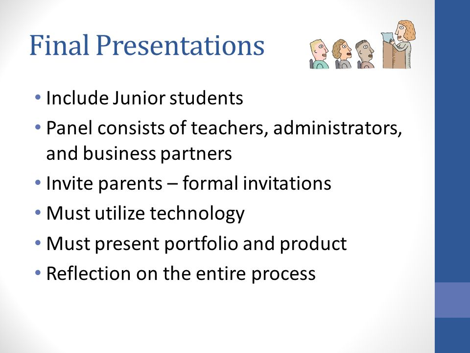 Final Presentations Include Junior students