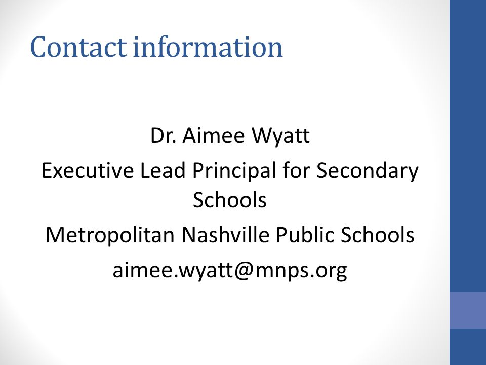 Contact information Dr.