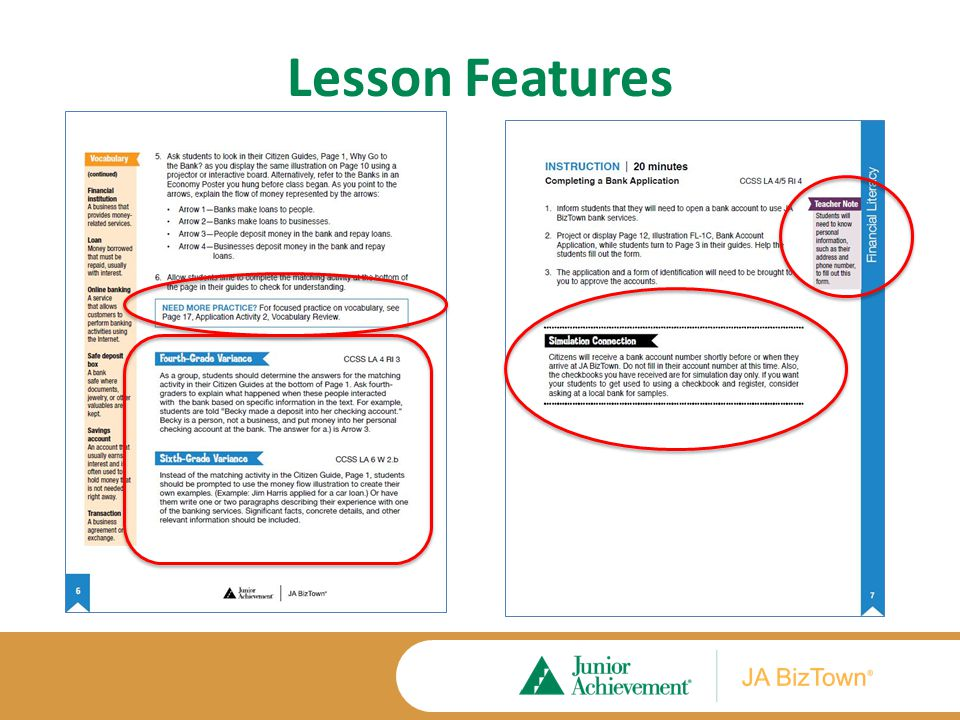 Lesson Features