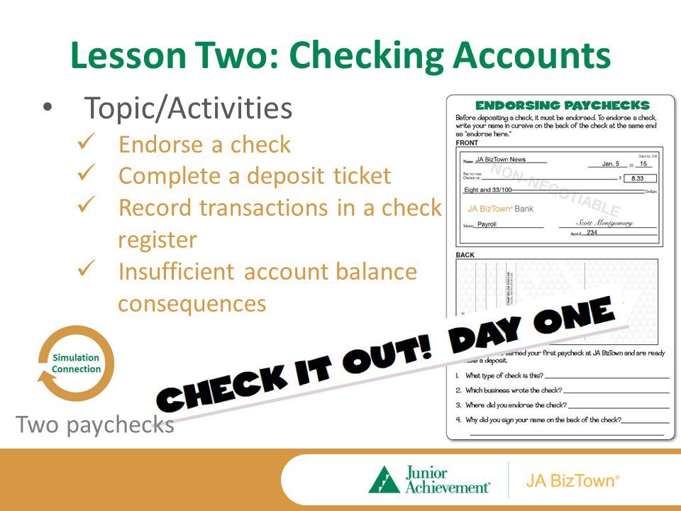 Lesson Two Application Activities Extension Activities