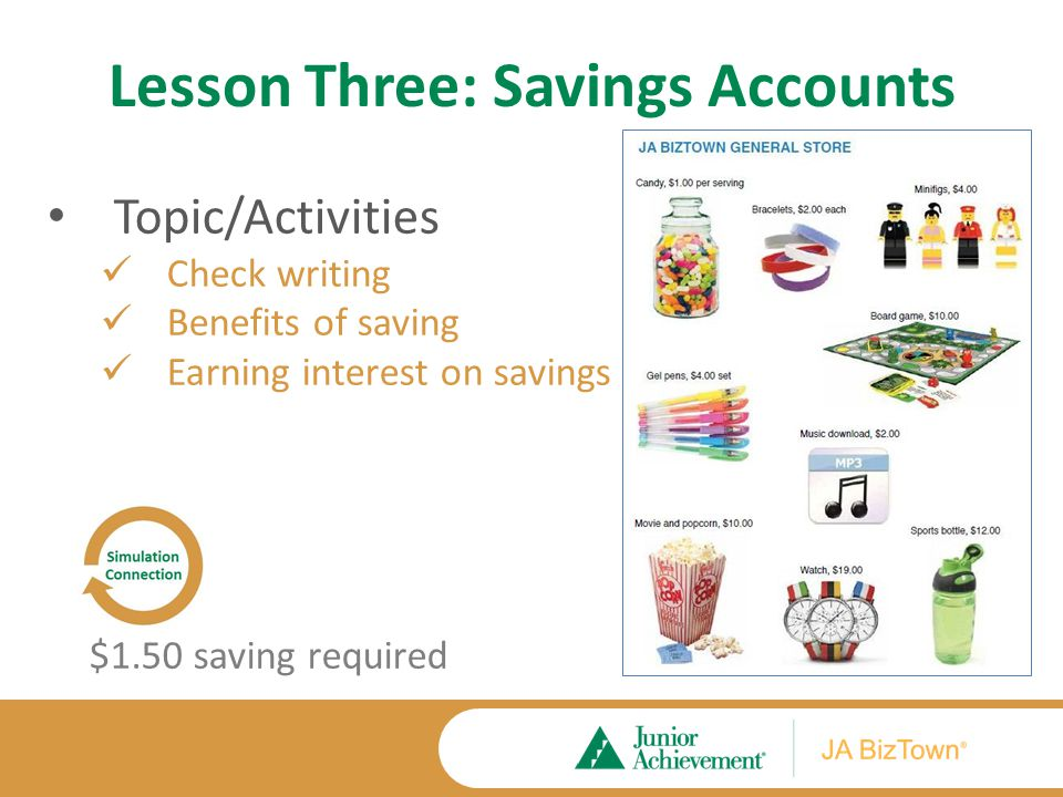 Lesson Three Application Activities Extension Activities