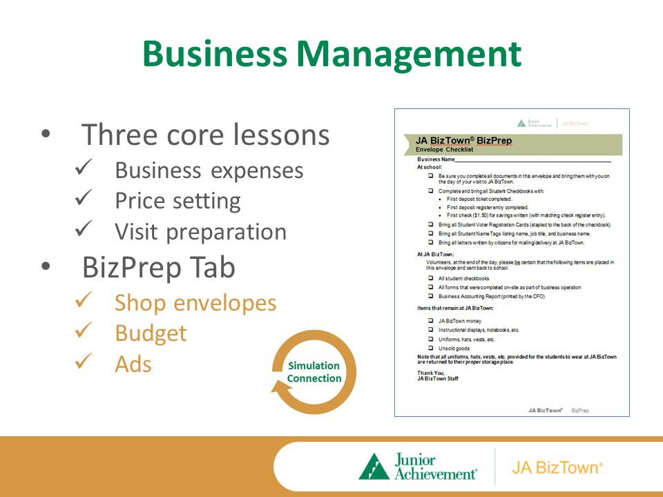 Lesson One: Business Costs