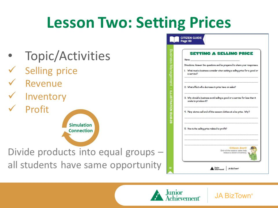Lesson Two Application Activities Extension Activities Wants and Needs